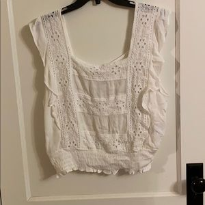 American Eagle white lace top